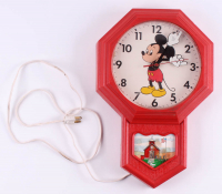 Vintage Disney Mickey Mouse Electric Wall Clock at PristineAuction.com