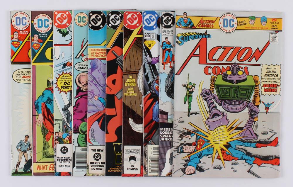 "Lot of (10) 1974-2000 ""Superman's Action Comics"" #431-#765 DC Comic Books at PristineAuction.com"