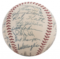 1954 New York Giants World Series Champions ONL Baseball Team-Signed by (27) with Willie Mays, Monte Irvin, Hoyt Wilhelm, Sal Maglie, Whitey Lockman (JSA LOA) at PristineAuction.com