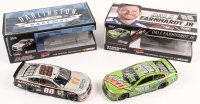 Lot of (2) Dale Earnhardt Jr. LE 1:24 Scale Die Cast Cars with Signed #88 Mountain Dew Talladega Race Version Autographed & #88 Nationwide Darlington 2016 SS Flashcoat Color (RCCA COA) at PristineAuction.com