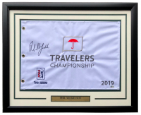 Phil Mickelson Signed 2019 Travelers Championship 21x27 Custom Framed Pin Flag (Beckett COA) at PristineAuction.com