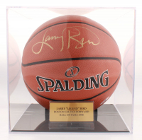 Larry Bird Signed 2017 NBA All-Star Official Game Ball Basketball with Display Case (PSA COA) at PristineAuction.com