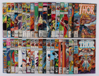 """Lot of (38) 1986-95 """"The Mighty Thor"""" #373-#484 Marvel Comic Books at PristineAuction.com"""
