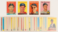 Lot of (115) 1958 Topps Baseball Cards with #115 Jim Bunning, #258 Carl Erskine, #74 Roy Face, #438 Whitey Herzog at PristineAuction.com