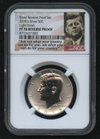2018-S 50¢ Kennedy Silver Half Dollar - Light Finish - Silver Reverse Proof Set (NGC PF 70 Reverse Proof) at PristineAuction.com