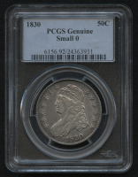 1830 50¢ Capped Bust Half Dollar - Small 0 (PCGS Genuine) at PristineAuction.com