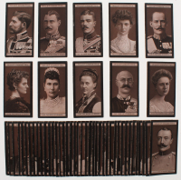 """1908 Will's """"Portraits of European Royalty"""" Series 2 Complete Set of (50) Cigarette Cards with #52 The Queen on Denmark, #53 The Queen of Greece, #51 The Empress of Russia, #55 The Duchess of Saxe-Coburg, #54 The Duke of Cumberland, #60 The Duke of Sparta at PristineAuction.com"""