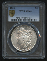 1885 $1 Morgan Silver Dollar (PCGS MS 66) at PristineAuction.com