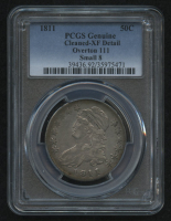 1811 50¢ Capped Bust Half Dollar - Small 8 - Overton 111 (PCGS XF Detail) at PristineAuction.com