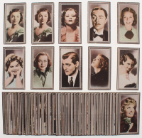 "1936 Godfrey Phillips ""Stars of the Screen"" Complete Set of (48) Cigarette Cards with #25 Shirley Temple, #9 Joan Crawford, #12 Clark Gable, #15 Katharine Hepburn, #2 Myrna Loyn at PristineAuction.com"