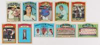 Lot of (10) 1972 Topps Baseball Cards with #575 Al Oliver, #651 Cincinnati Reds Team Card, #420 Steve Carlton, #195 Orlando Cepeda at PristineAuction.com