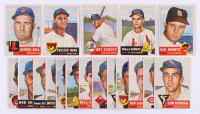 Lot of (18) 1953 Topps Baseball Cards with #138 George Kell, #142 Victor Wertz, #167 Art Schult, #168 Willard Schmidt, #173 Preston Ward at PristineAuction.com