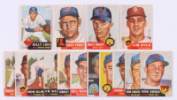 Lot of (15) 1953 Topps Baseball Cards with #165 Billy Hoeft, #169 Dizzy Trout, #174  Billy Loes, & #177 Jim Dyck at PristineAuction.com