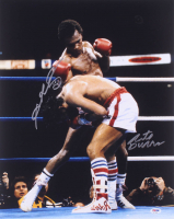 Sugar Ray Leonard & Roberto Duran Signed 16x20 Photo (PSA COA) at PristineAuction.com