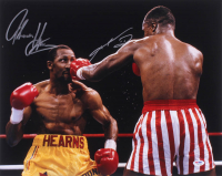 Sugar Ray Leonard & Thomas Hearns Signed 16x20 Photo (PSA COA) at PristineAuction.com