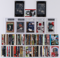 Lot of (164) Ken Griffey Jr. Baseball Cards with 2004 Topps Gold #510 (BGS 9), 2002 Diamond Kings Silver Foil #86 (BGS 9), 1999 Pacific Invincible Flash Point #18 (BGS 7.5), 2001 Upper Deck MVP Authentic Griffey #U (BGS 8) at PristineAuction.com
