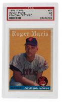Roger Maris Signed 1958 Topps #47 RC (PSA 5) at PristineAuction.com