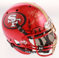 "Joe Montana & Jerry Rice Signed San Francisco 49ers Full-Size Authentic On-Field Helmet with Visor Inscribed ""HOF 2000"" & ""HOF 2010"" (JSA Hologram & PSA LOA) at PristineAuction.com"