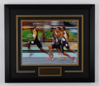 Usain Bolt Signed Team Jamaica 19x22 Custom Framed Photo Display (Beckett Hologram) at PristineAuction.com