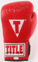 Evander Holyfield Signed Title Boxing Glove (JSA COA) at PristineAuction.com