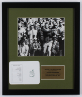 """Arnold """"The King"""" Palmer 16x19 Custom Framed Photo Display with Augusta National Official Scorecard at PristineAuction.com"""