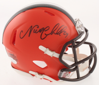 Nick Chubb Signed Cleveland Browns Speed Mini Helmet (JSA COA) at PristineAuction.com