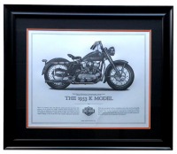 "Harley-Davidson ""The 1953 K Model"" 23x27 Custom Framed Print Display at PristineAuction.com"