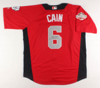 Lorenzo Cain Signed 2018 National League All-Star Batting Practice Jersey (Beckett COA) at PristineAuction.com