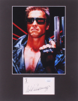 "Arnold Schwarzenegger Signed ""Termintor 2"" 11x14 Custom Matted Cut Display (JSA COA) at PristineAuction.com"