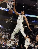 Giannis Antetokounmpo Signed Milwaukee Bucks 16x20 Photo (JSA COA) at PristineAuction.com