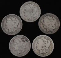 Lot of (5) Morgan Silver Dollars with 1886-O, 1887-O, 1888-O, 1896-O, & 1897-O at PristineAuction.com