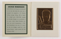 Jackie Robinson 1952 Topps Legends Of The Fifties Collection Brass Card at PristineAuction.com