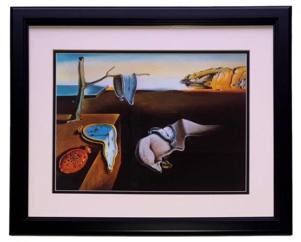 "Salvador Dali ""The Persistence of Memory"" 14x17 Custom Framed Print at PristineAuction.com"