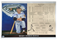 Mickey Mantle Signed LE 14x21 Career Stat Print (Beckett LOA) at PristineAuction.com