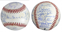 """2000 New York Yankees OML Baseball Team-Signed by (29) with Dwight """"Doc"""" Gooden, Derek Jeter, Joe Torre, Jose Canseco, Mariano Rivera (Beckett LOA) at PristineAuction.com"""