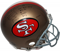 Joe Montana Signed LE San Francisco 49ers Full-Size Authentic On-Field Helmet with Multiple Career Stat Inscriptions (JSA LOA) at PristineAuction.com