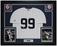 Aaron Judge Signed 35x43 Custom Framed Jersey (Fanatics Hologram & MLB Hologram) at PristineAuction.com