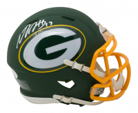 Davante Adams Signed Green Bay Packers AMP Alternate Speed Mini Helmet (JSA COA) at PristineAuction.com
