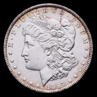1897 Morgan Silver Dollar at PristineAuction.com