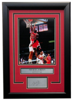 Michael Jordan Chicago Bulls 14x18 Custom Framed Photo Display at PristineAuction.com