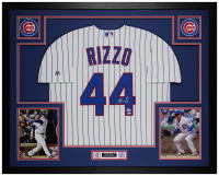 Anthony Rizzo Signed 35x43 Custom Framed Jersey (Fanatics & MLB Hologram) at PristineAuction.com