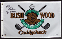 """Chevy Chase Signed """"Caddyshack"""" Bushwood Country Club Pin Flag Inscribed """"Ty Webb"""" (Beckett COA & Chase Hologram) at PristineAuction.com"""