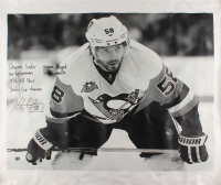 Kris Letang Signed LE Pittsburgh Penguins 36x43 Photo On Canvas with Multiple Inscriptions (Letang Hologram) at PristineAuction.com