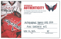 Alexander Ovechkin Signed Game-Used CCM Hockey Stick (Beckett COA & Washington Capitals COA) at PristineAuction.com