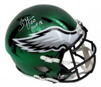 "Brian Dawkins Signed Philadelphia Eagles Full-Size Chrome Speed Helmet Inscribed ""HOF 18"" (JSA COA) at PristineAuction.com"