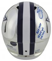 Emmitt Smith Signed LE Cowboys Full-Size Chrome Speed Helmet with Multiple Career Stat Inscriptions (Beckett COA & Prova Hologram) at PristineAuction.com