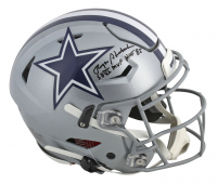 "Roger Staubach Signed Dallas Cowboys Full-Size Authentic On-Field SpeedFlex Helmet Inscribed ""SB VI MVP"" & ""HOF 85"" (Beckett COA) at PristineAuction.com"