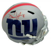 Daniel Jones Signed Giants Full-Size AMP Alternate Speed Helmet (Beckett COA) at PristineAuction.com