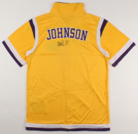 Magic Johnson Signed Lakers Warm-Up Jersey (PSA COA) at PristineAuction.com