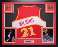 Dominique Wilkins Signed 35x43 Custom Framed Jersey (JSA COA & GTSM Hologram) at PristineAuction.com